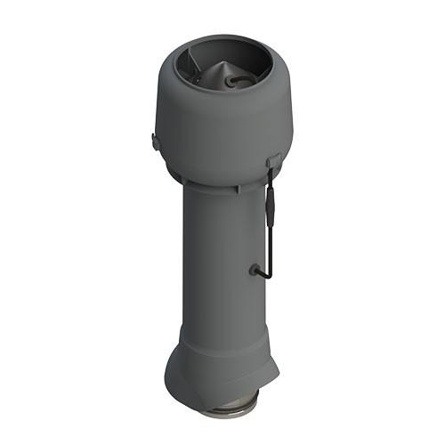 Вентиляционный выход ТР-85Е.125/160/700 с вентилятором (серый)
