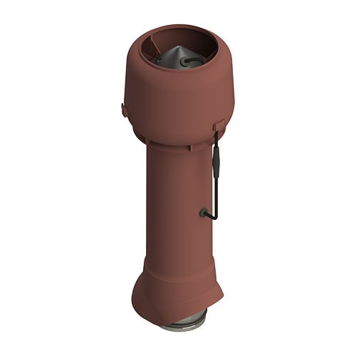 Вентиляционный выход ТР-85Е.125/160/700 с вентилятором (красный)